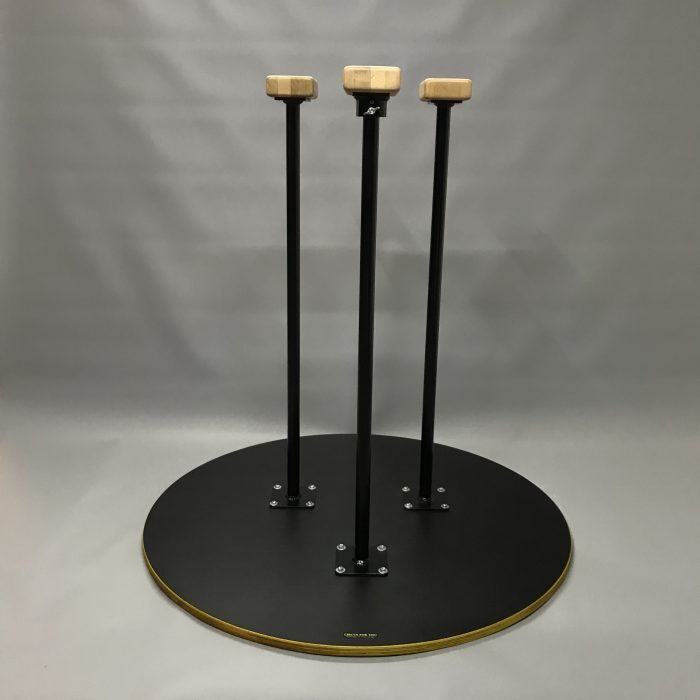 Handstand Canes on ring base with rotation, for hand balancer or hand stand