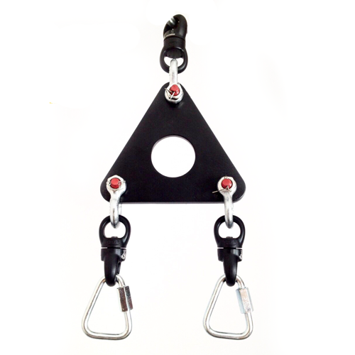 Aerial straps rigging plate circus props