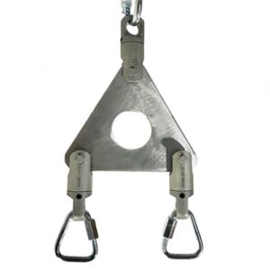 Rigging set for aerial straps steel