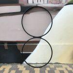Double aerial hoop