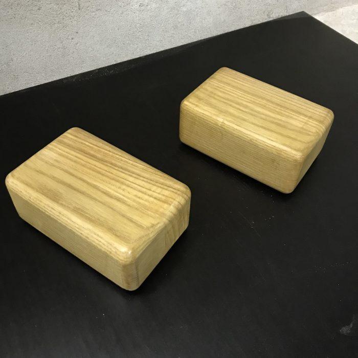 oak hand stand blocks for hand balance on floor